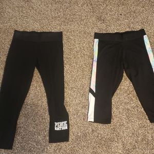 Victoria's Secret Pink ankle leggings, crop sport